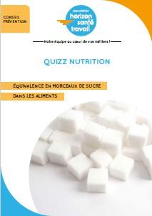 Quizz nutrition